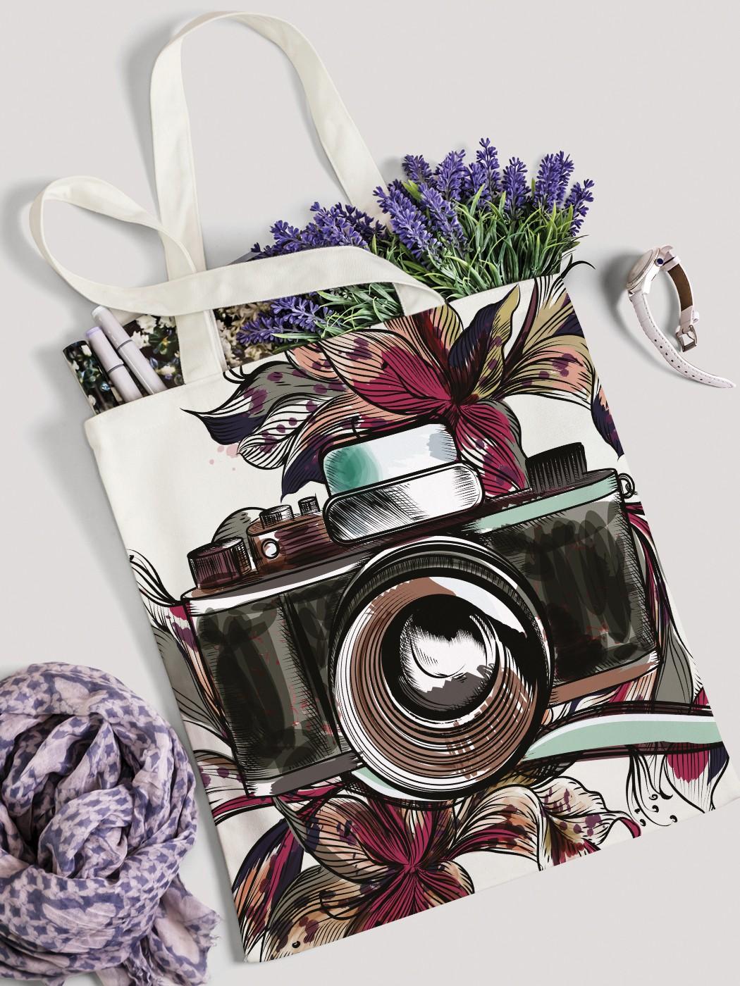 Сумка женская JoyArty Фотоаппарат в цветах фото