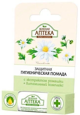 Защитная гигиеническая помада Зеленая аптека с экстрактом