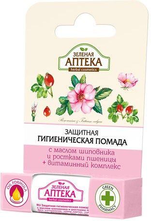 Защитная гигиеническая помада Зеленая аптека с маслом