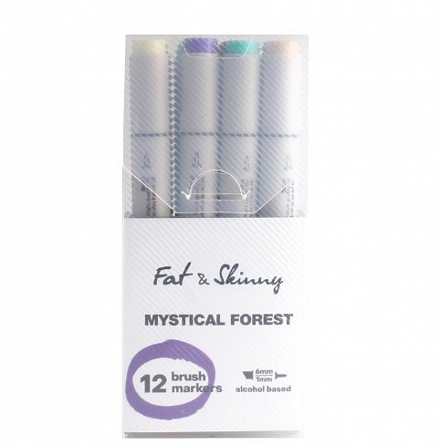 Набор маркеров Fat#and#Skinny Brush Mystical Forest 12 штук