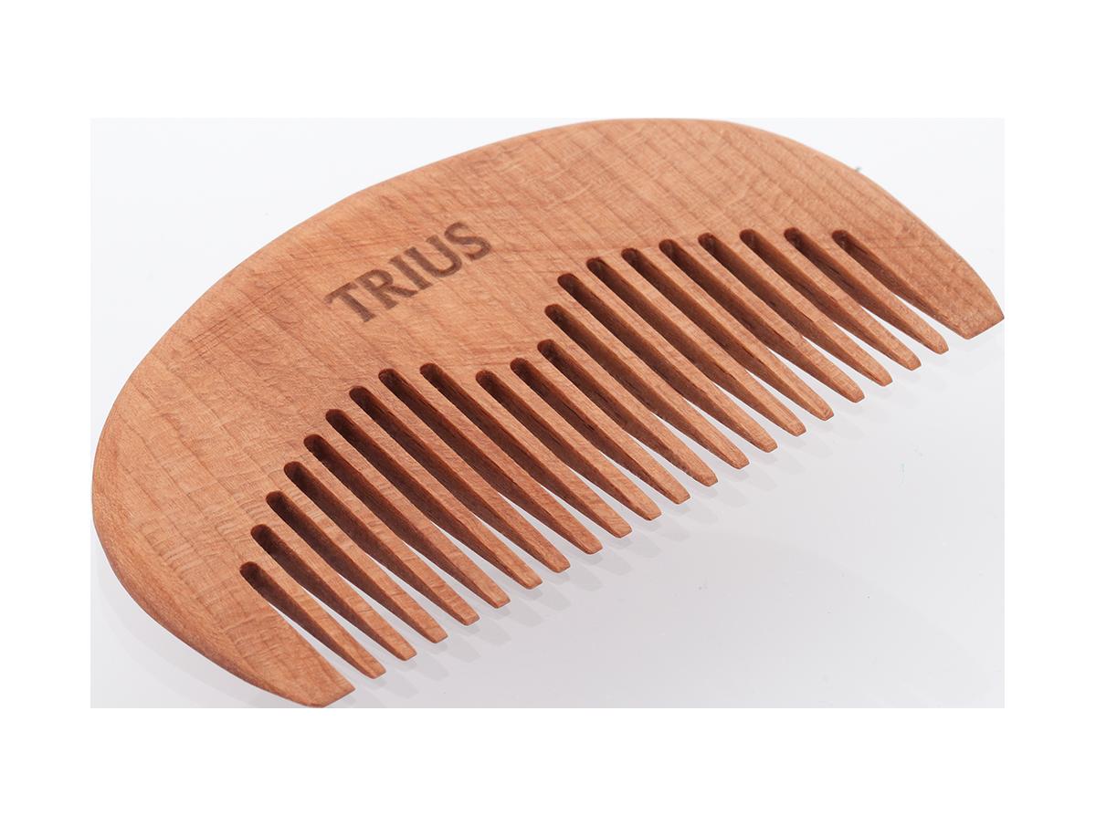 Гребень для бороды Trius Comb №4, темное