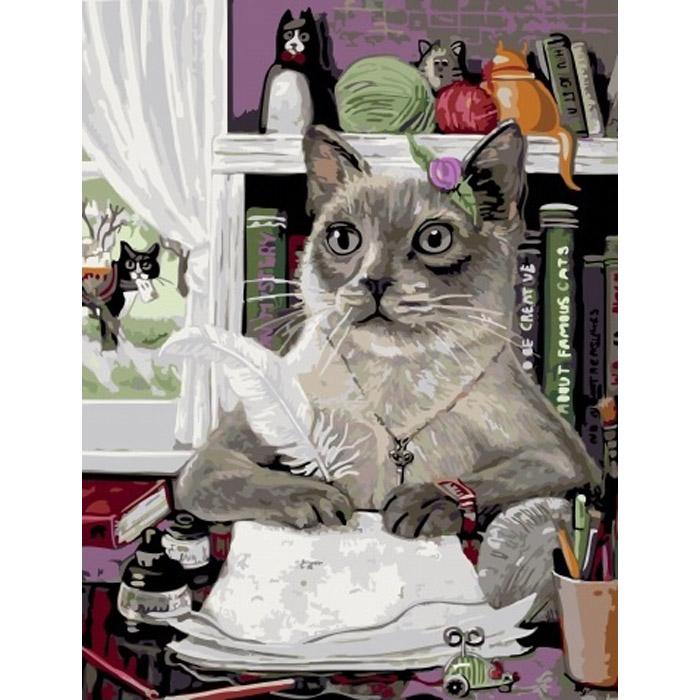кот и тапки картинки картина по номерам серая кожа
