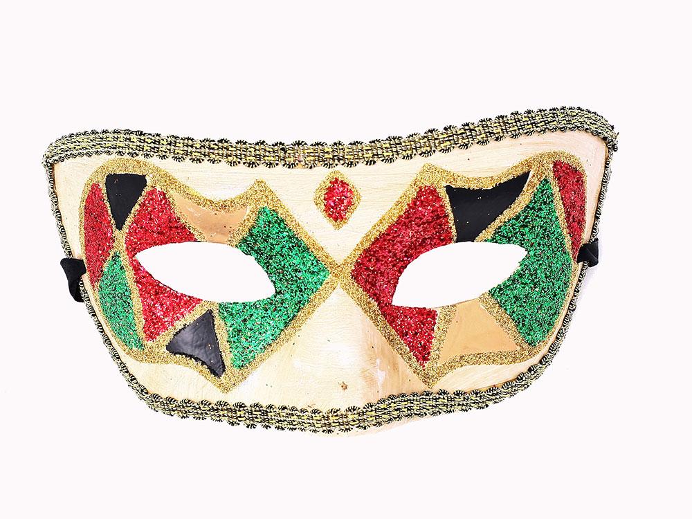 Купить Полумаска Арлекинка (Цв: Разноцветный) для взрослых/Arte/611, АРТЭ Театральная Галерея,