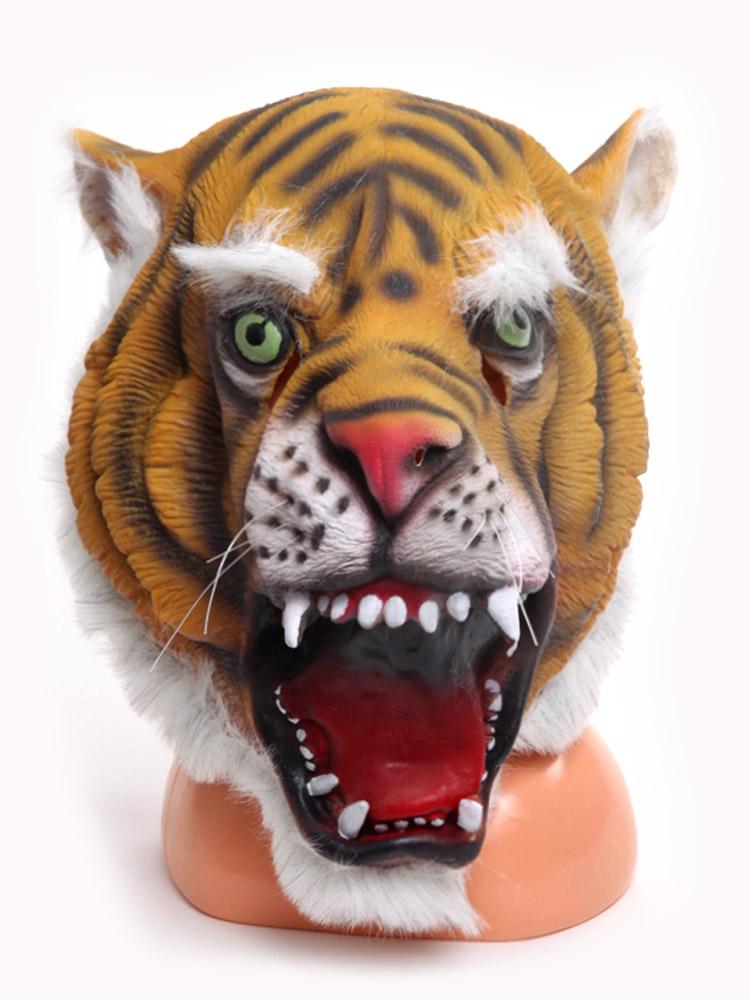 Купить Маска латексная АРТЭ Тигр, оранжевый-черный, АРТЭ Театральная Галерея,