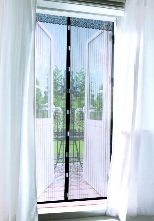 Штора сетка антимоскитная дверная 90х210