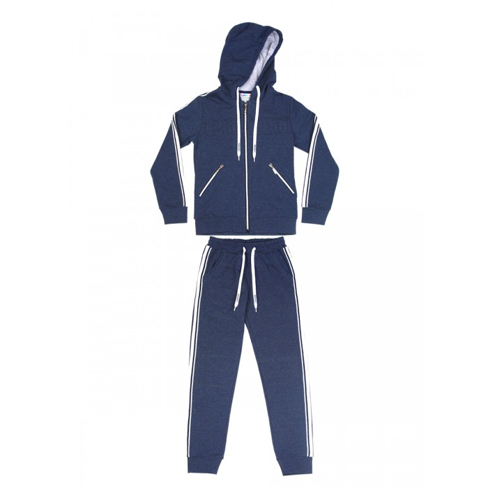 Купить 928118, Спортивный костюм Luminoso, цв. темно-серый, 122 р-р, Спортивные костюмы для девочек