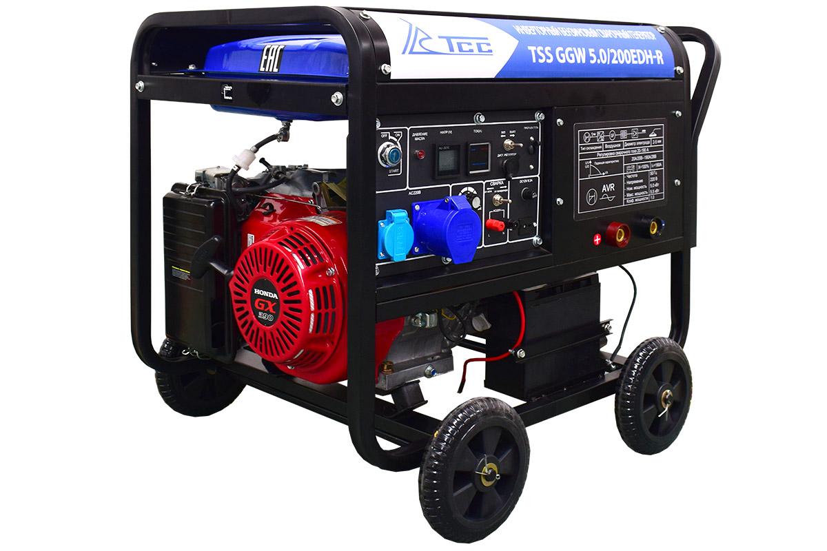 Инверторный бензиновый сварочный генератор TSS GGW 5.0/200EDH