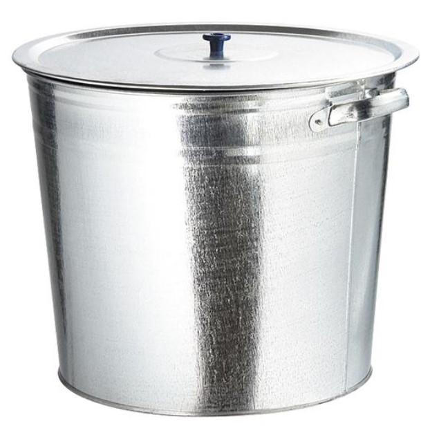 Бак для воды оцинкованный с крышкой (крышка