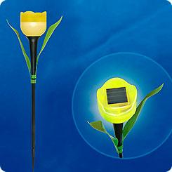 Светильник на солнечной батарее садовый Желтый тюльпан