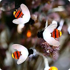Гирлянда на солнечной батарее садовая Пчелки,