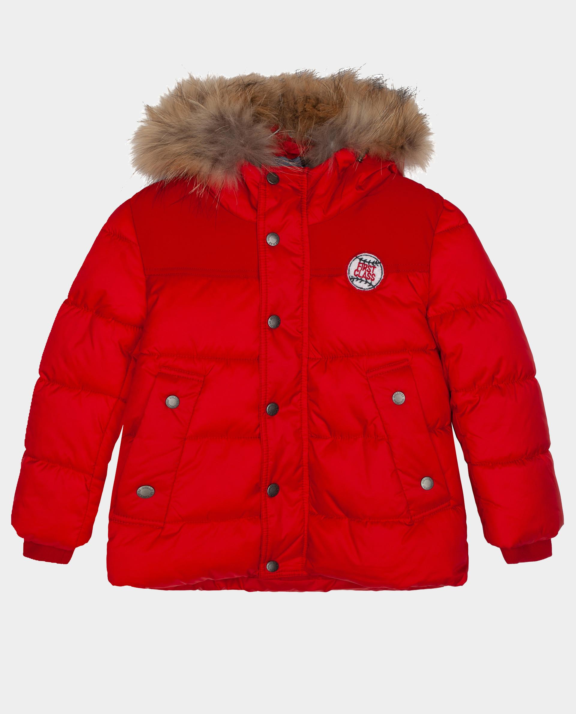 Красная куртка зимняя Gulliver 22005BMC4104, размер 104,  - купить со скидкой