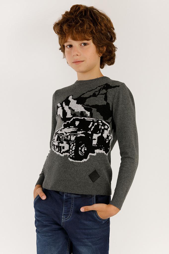 Купить UKA19-87101_серый, Джемпер для мальчиков Finn-Flare, цв. серый, р-р 134, Finn Flare,