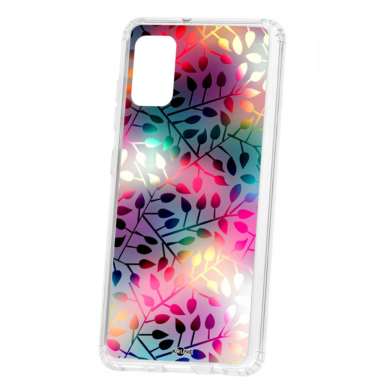 Чехол-накладка Samsung Galaxy A41 2019 Kruche Print Цветные листья КRUЧЕ