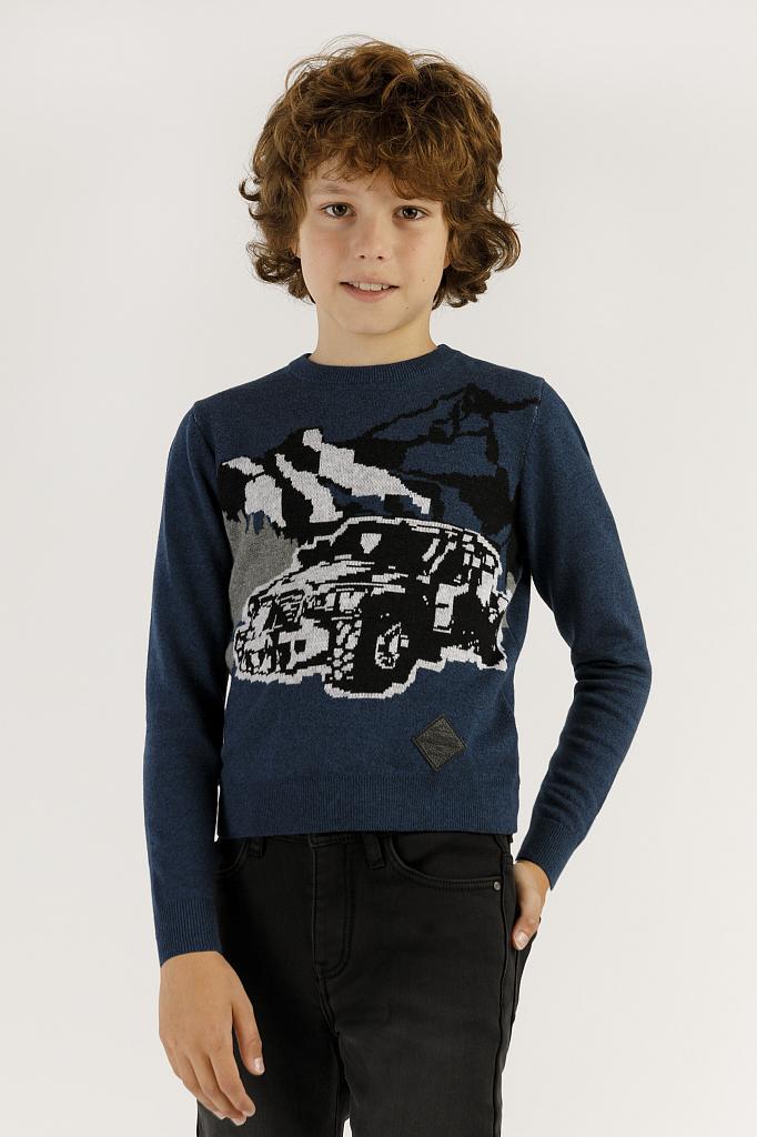 Купить UKA19-87101_синий, Джемпер для мальчиков Finn-Flare, цв. синий, р-р 140, Finn Flare,