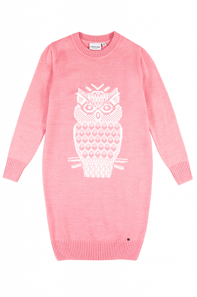 Купить KW19-71115_розовый, Платье для девочек Finn-Flare, цв. розовый, р-р 134, Finn Flare,