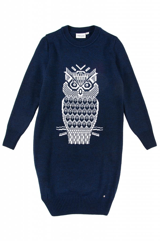 Купить KW19-71115_синий, Платье для девочек Finn-Flare, цв. синий, р-р 134, Finn Flare,