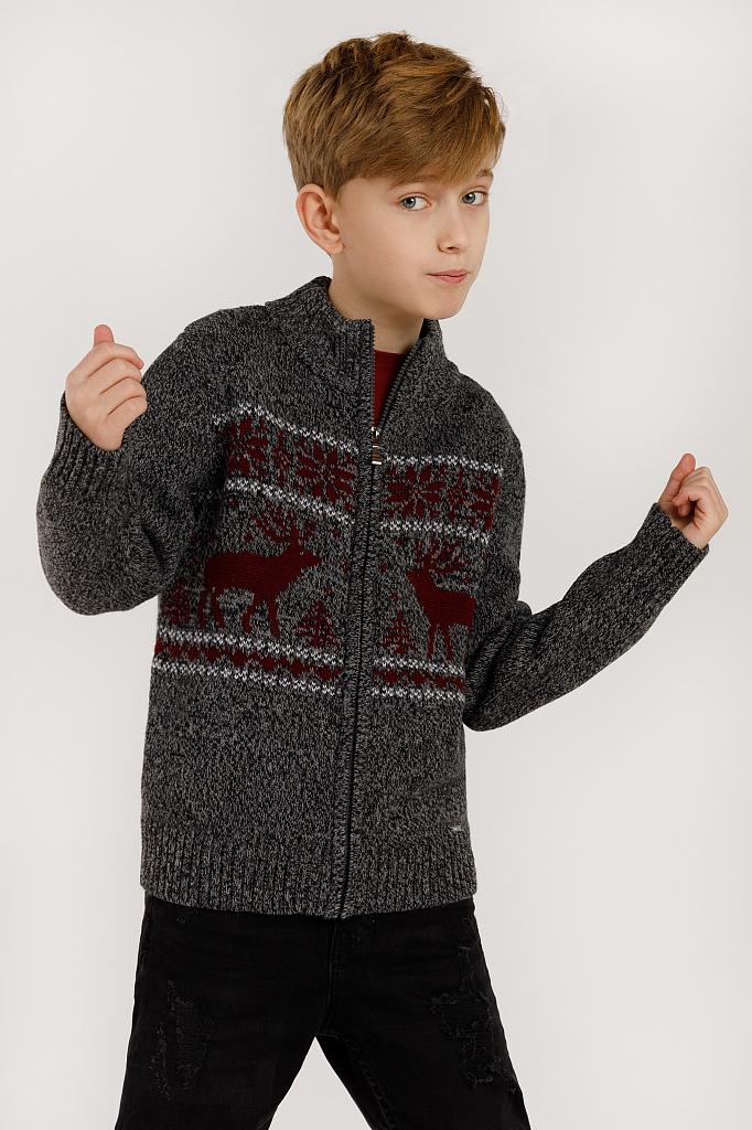 Купить KW19-81102_темно-серый, Жакет для мальчиков Finn-Flare, цв. серый, р-р 140, Finn Flare,