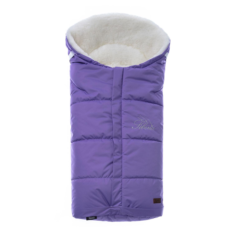 Конверт зимний меховой Nuovita Siberia Bianco Viola, Фиолетовый