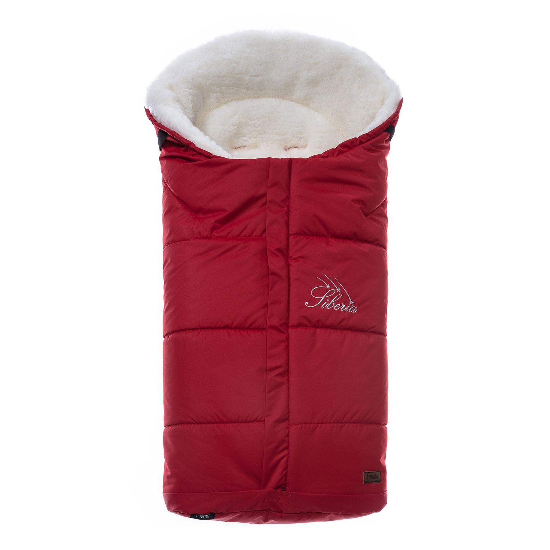 Конверт зимний меховой Nuovita Siberia Bianco Rosso, Красный