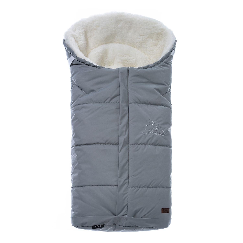 Конверт зимний меховой Nuovita Siberia Bianco Grigio, Серый