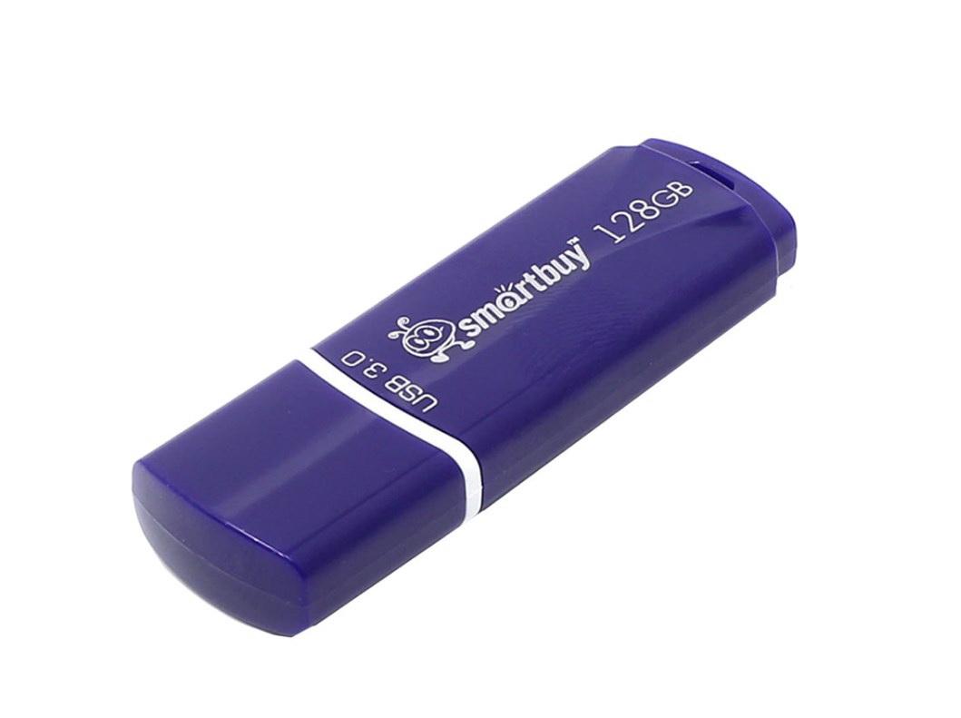Флэш диск SmartBuy Crown 128GB Blue  - купить со скидкой