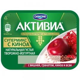 Биопродукт Активия творожно-йогуртный вишня гранат киноа асаи 4% 130 г