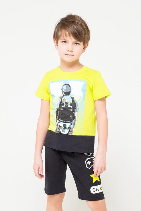 Футболка детская CROCKID цв. желтый р.110 КР 301093