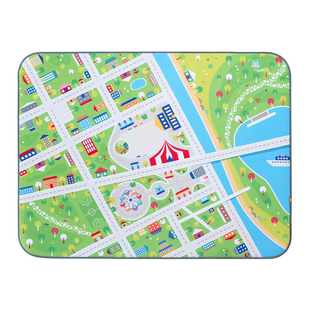 Игровой плюшевый ковер 3в1 Wolli matlig, маленький город, 130х180 см