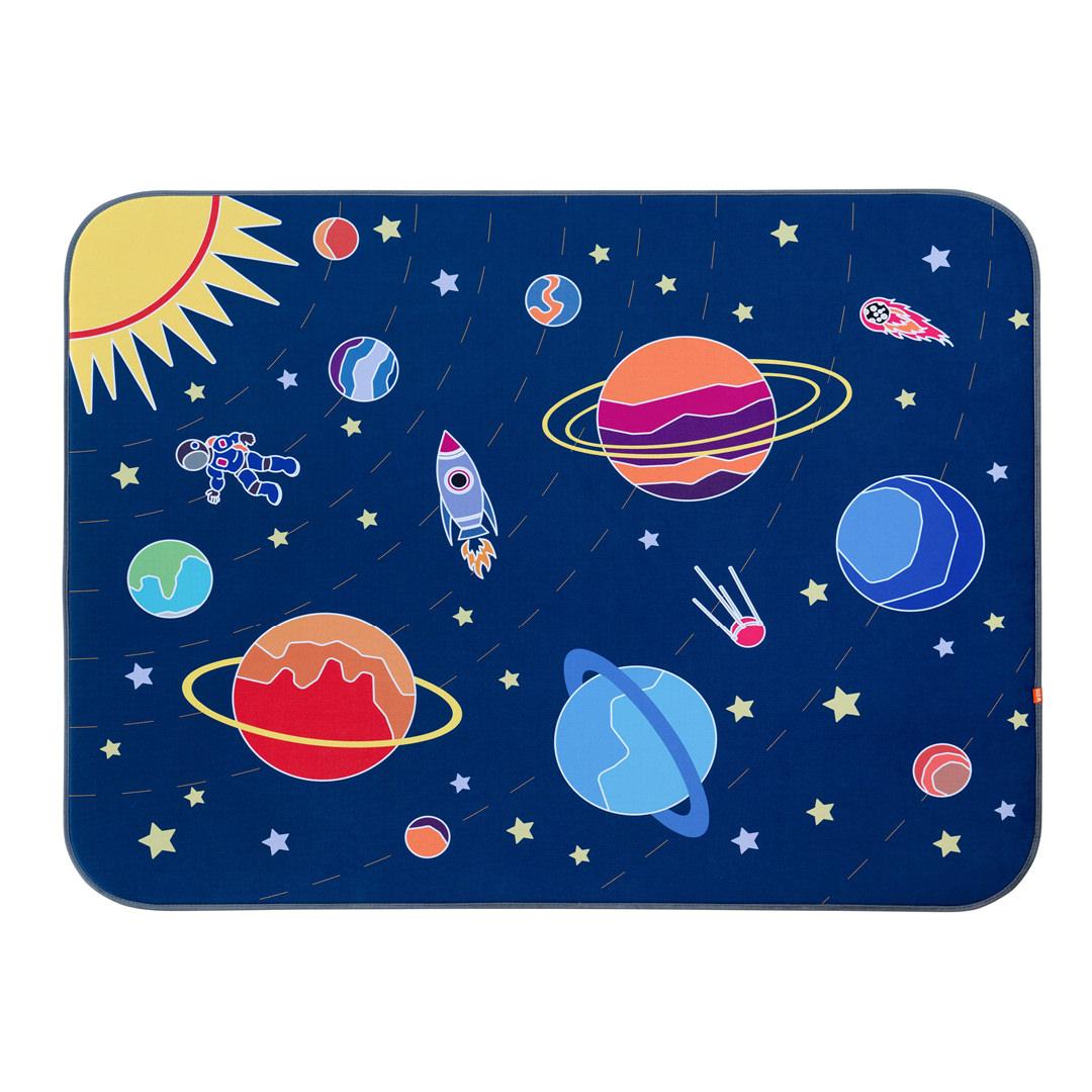 Игровой плюшевый ковер 3в1 Wolli matlig открытый космос, 120х160 см