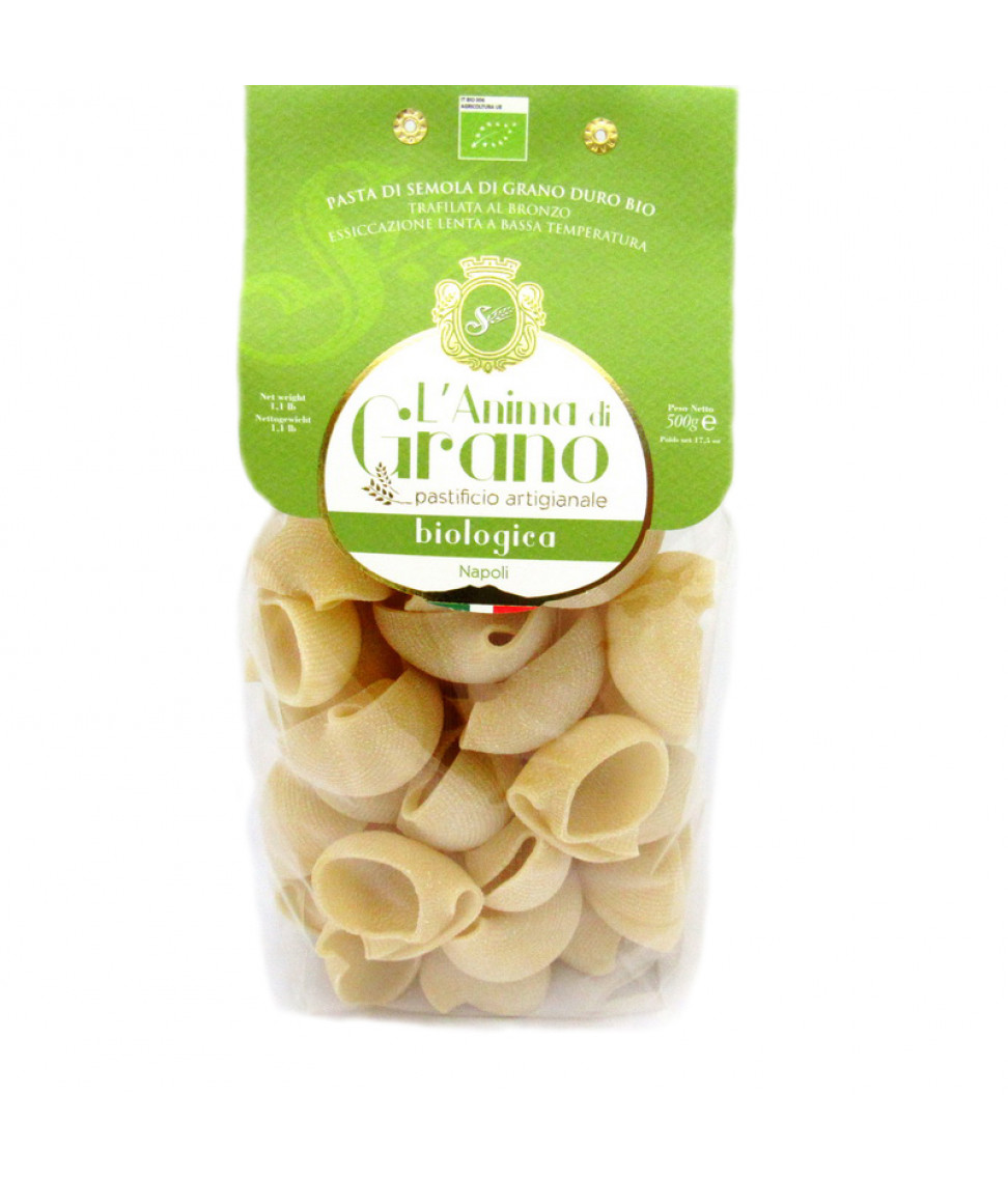 Паста из твердых сортов пшеницы Lumaconi bio L`oro di Gragnano 500 г по цене 364
