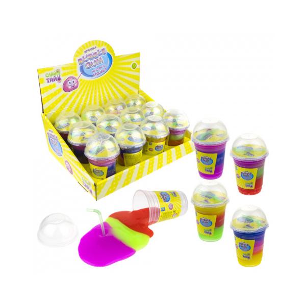 Купить Слайм 1TOY Слайм тайм Bubble gum трехцветный, в ассортименте, 1 TOY,