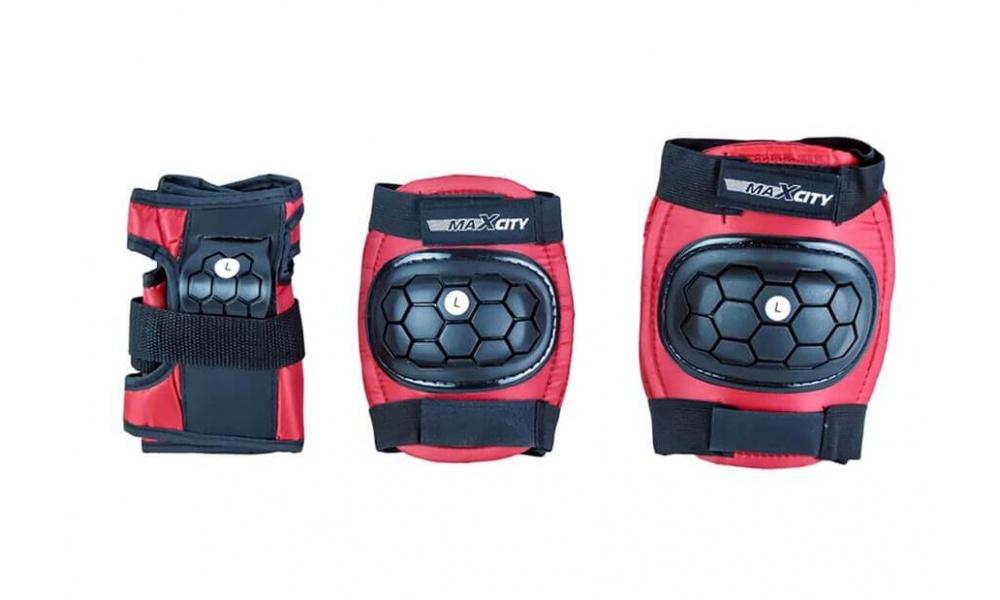 Набор роликовой защиты MaxCity MATCH Красный, S