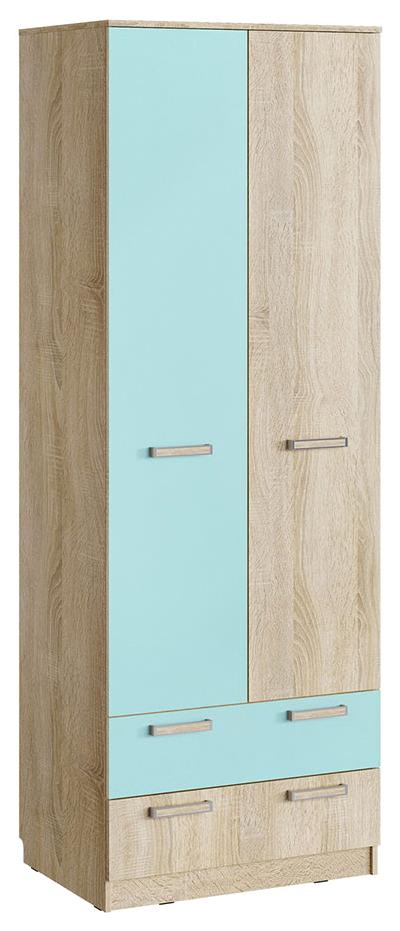 Шкаф для одежды с ящиками Сильва Акварель