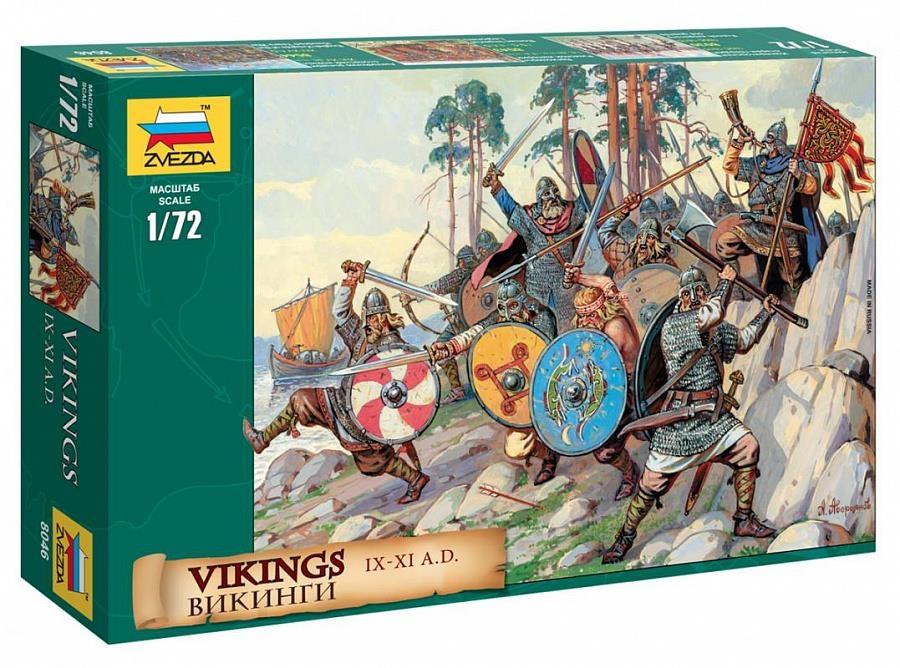 Купить Викинги IX-XI вв. н.э. Сборная модель солдатиков 1/72 Звезда 8046, Сборная модель ZVEZDA Викинги IX-XI вв. н.э., 1/72, Модели для сборки