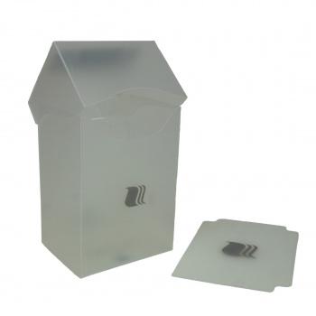 Пластиковая коробочка Blackfire вертикальная прозрачная, 80+ карт
