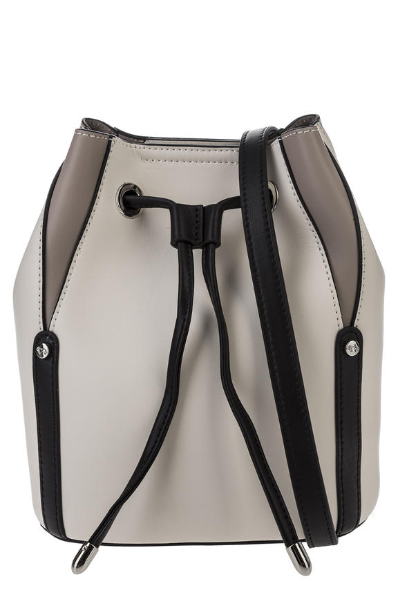 Кожаная сумка на кулиске со съемным отделением, б/р