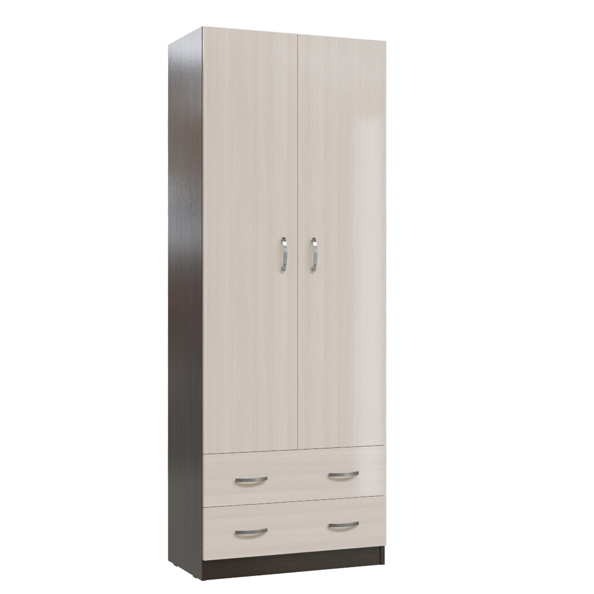 Шкаф с ящиками Мэри-Мебель Мэри МК-3 дуб молочный/дуб венге, 70х40х190 см