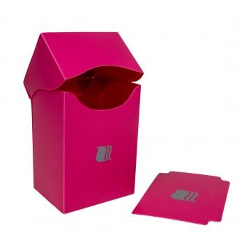 Пластиковая коробочка Blackfire вертикальная розовая, 80+ карт
