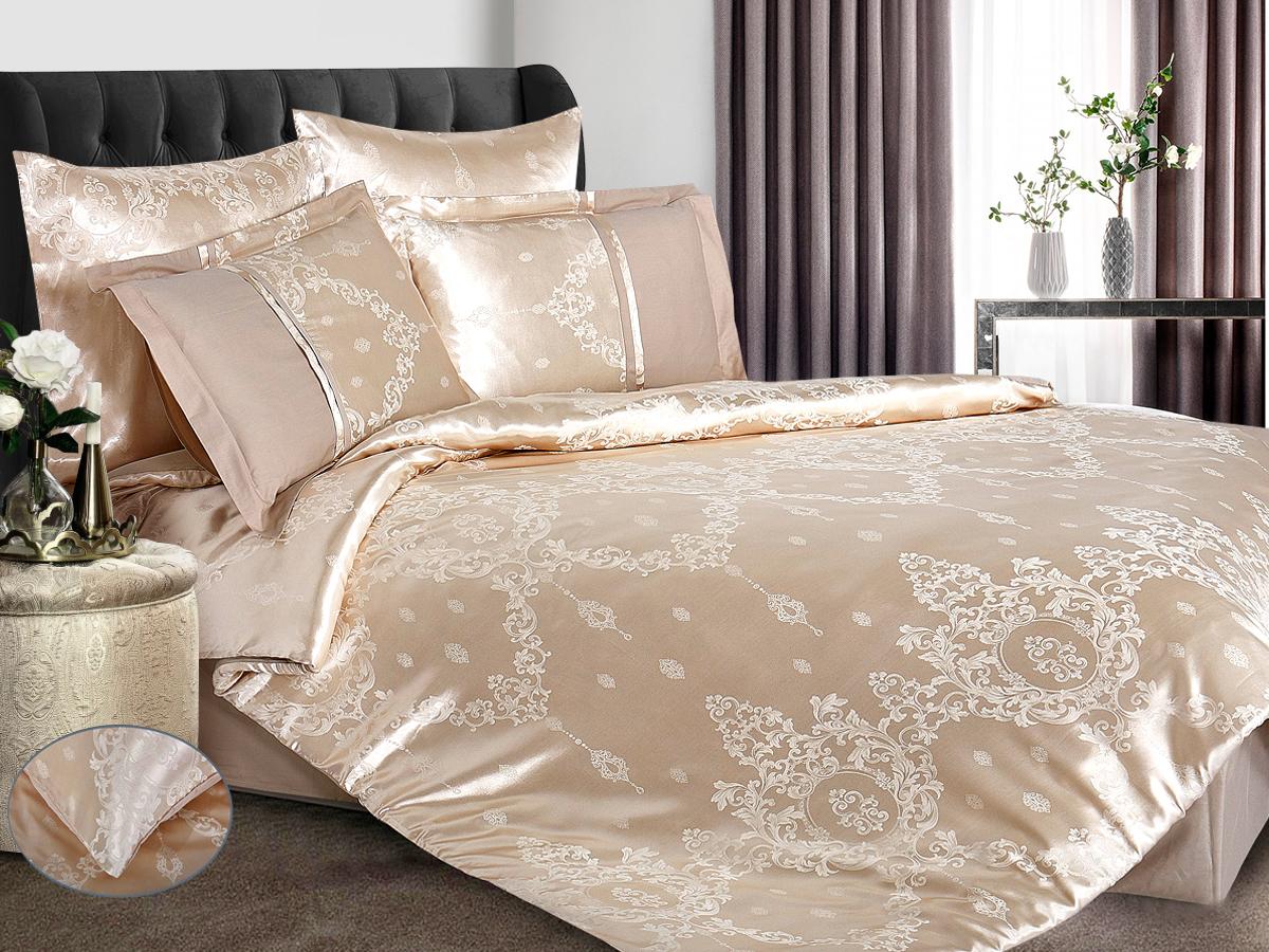 Комплект постельного белья Cleo Satin jacquard 41/114-SG, семейный