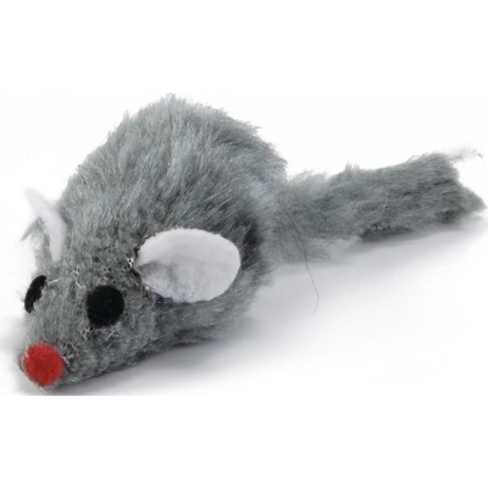 Игрушка для кошек Beeztees Мышь плюшевая серая 5 см.