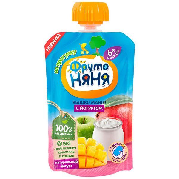 Пюре ФрутоНяня яблоко манго йогурт 90 г
