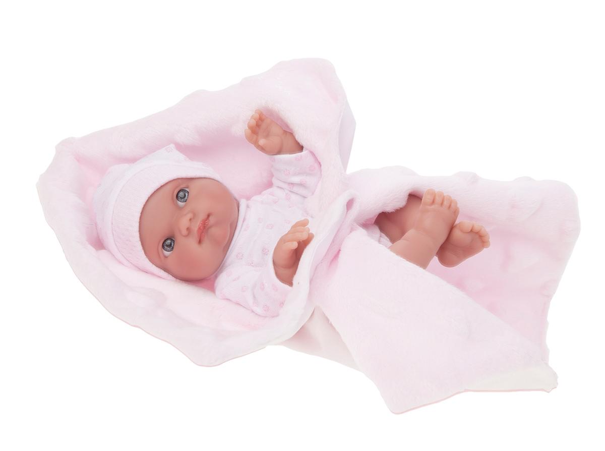 Кукла-младенец Берта на розовом одеялке, 21 см Antonio Juan 3905P
