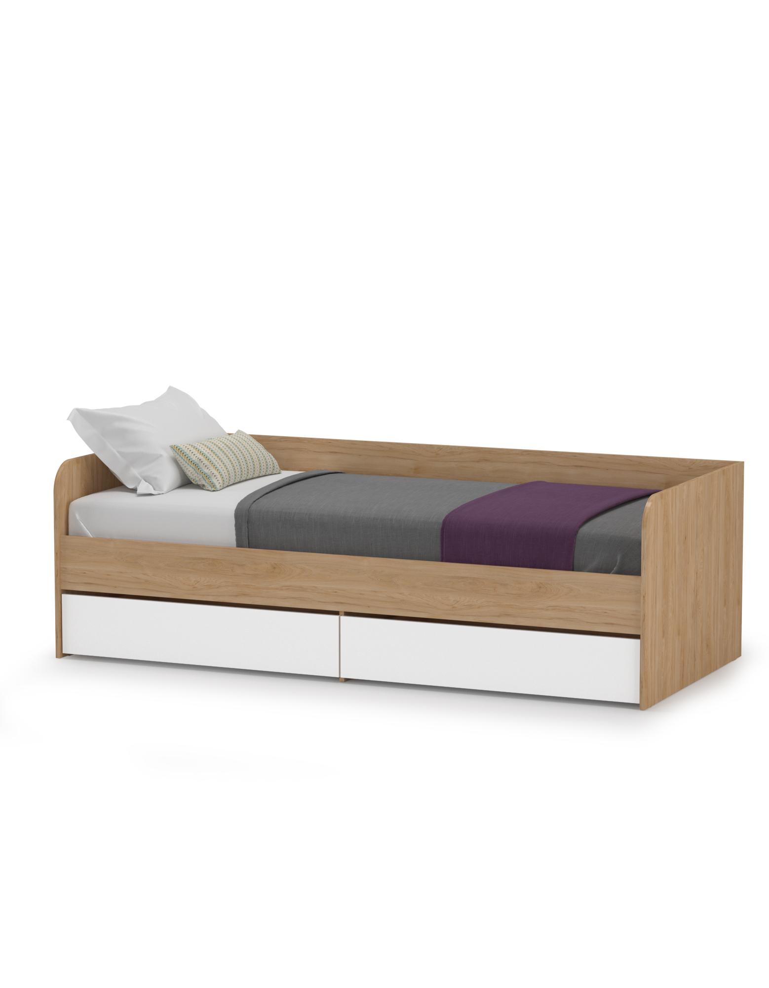 Кровать Mobi Гравити 01.34 гикори 90х200 см., фото