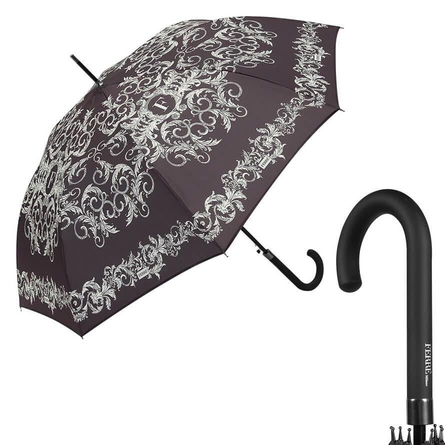 Зонт-трость Ferre Milano 300-LA Design Nero