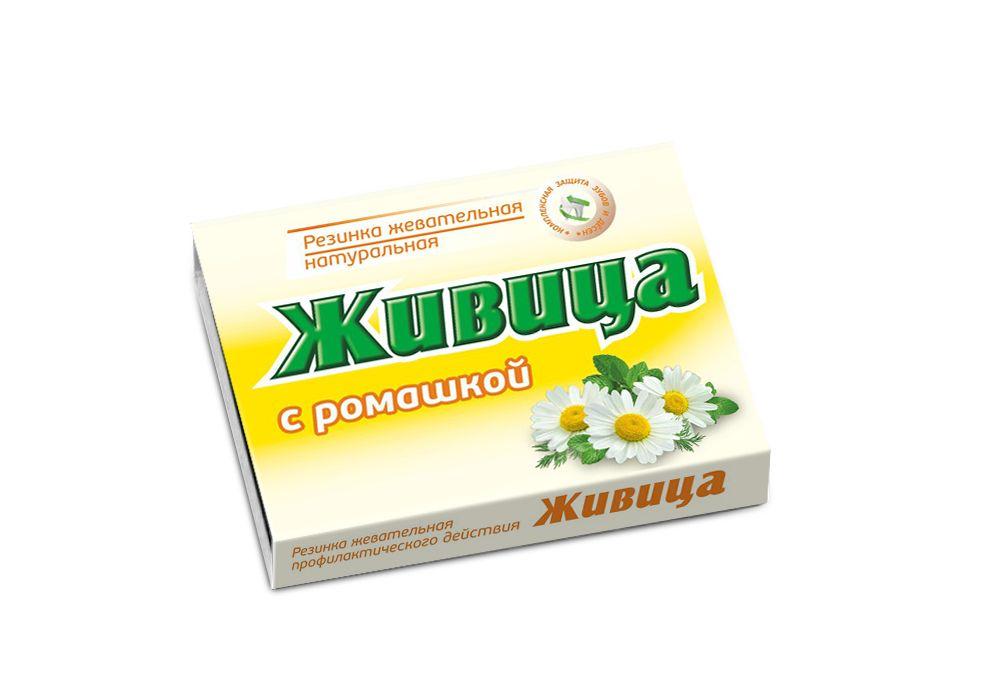 Смолка жевательная таблетки Живица с ромашкой 0,8 г 5 шт.