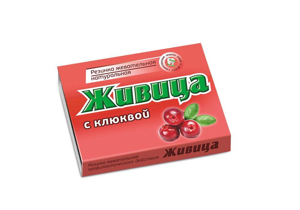 Купить Смолка жевательная с клюквой, Смолка жевательная таблетки Живица с клюквой 0, 8 г 5 шт.