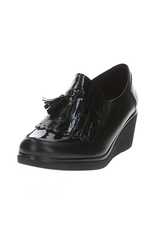 Полуботинки женские Pitillos EL298_5233 черные 36 RU