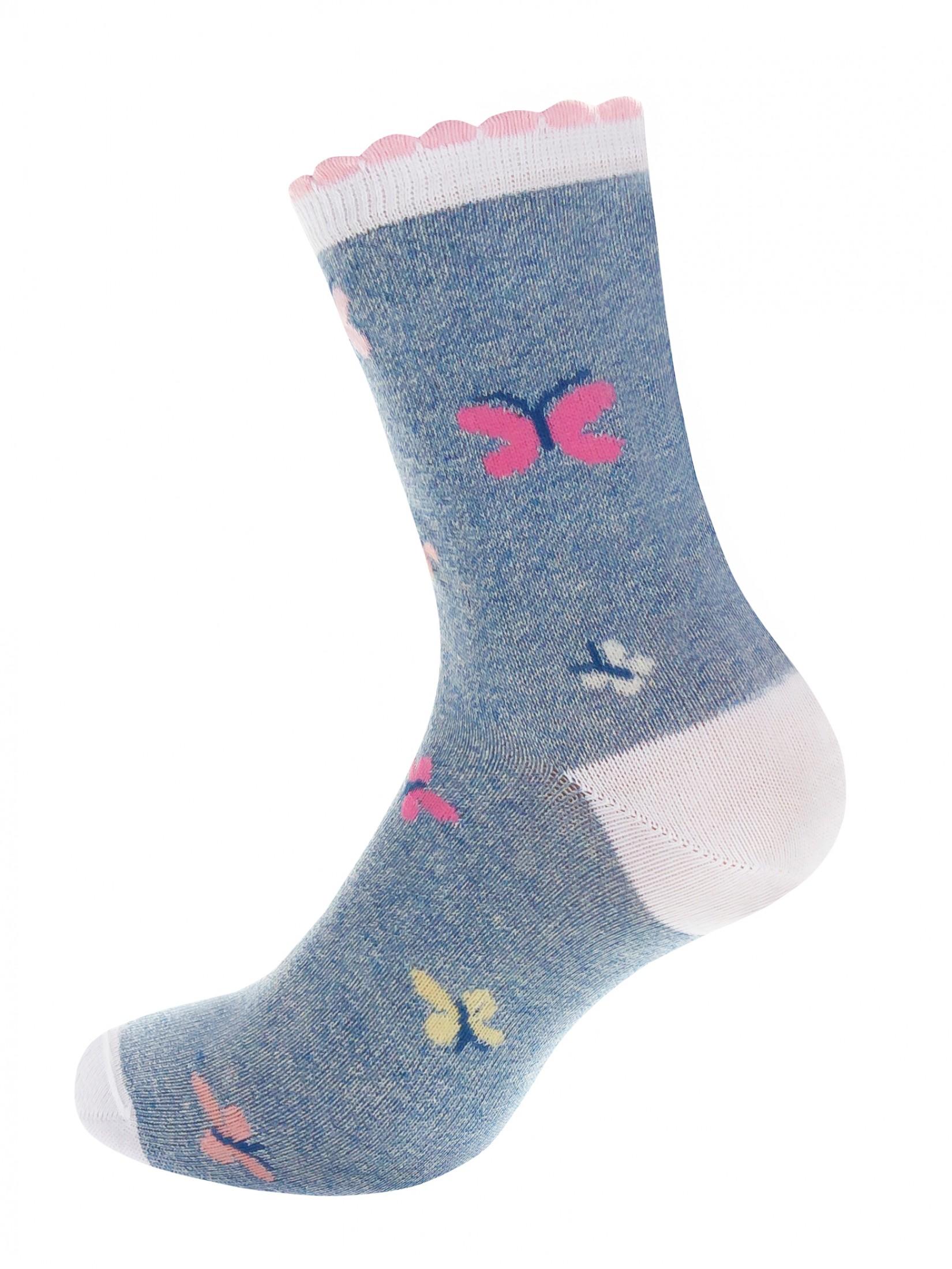 Носки женские Mademoiselle Butterfly (c) синие UNICA