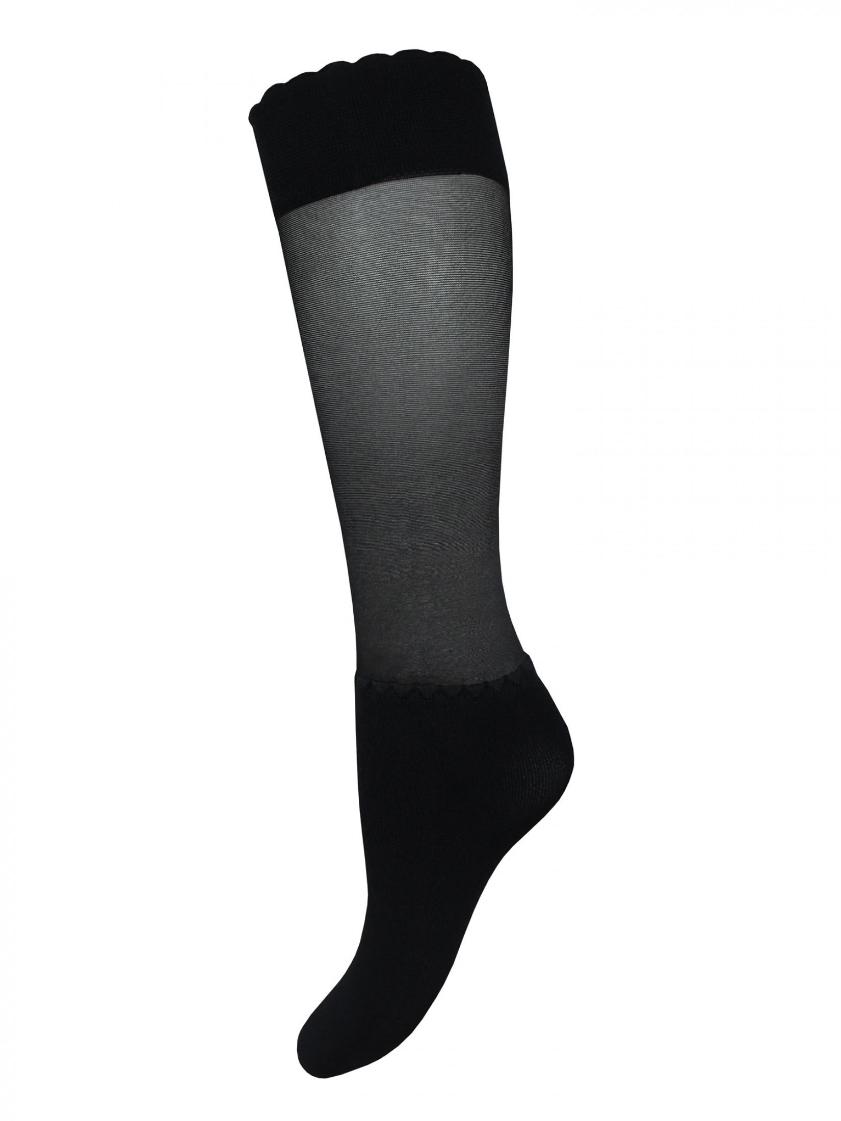 Капроновые носки женские Mademoiselle Sapporo (с) черные UNICA