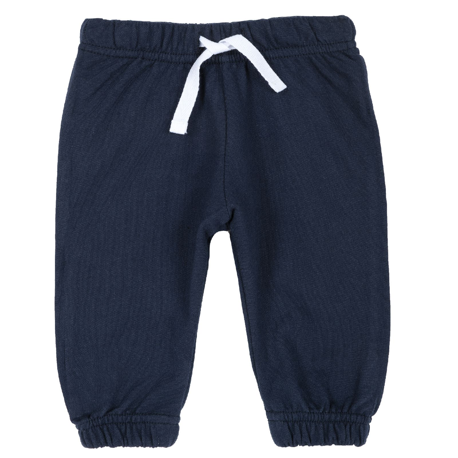 Купить 9008132, Брюки для мальчиков Chicco с белым шнурком, цвет темно-синий, размер 86, Детские брюки и шорты